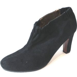 NEW Sam Edelman Black Suede Ankle Boots Size 12